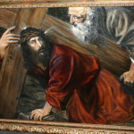 "My copy of Titian's ""Christ With the Cross"""