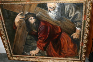 """My copy of Titian's """"Christ With the Cross"""""""